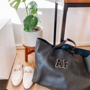 Stoney Clover Lane leather tote